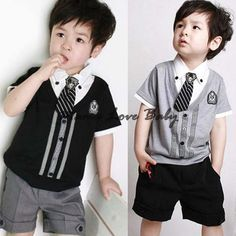Ucuz Doğrudan Çin Kaynaklarında Satın Alın: 3sets/lot 2014 yeni erkek çocukları yaz set kısa giyim takım elbise seti çocuklar beyefendi gömlek t- shirt+ pantolon +tie uygun ayarlar 20085özellikleri: 100% yepyeni.Malzeme: pamuk karışımlı2 o