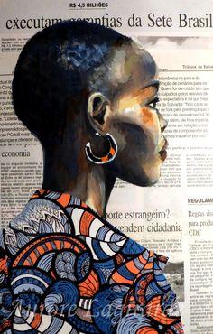 Portrait Afrique, inspiration ethnique