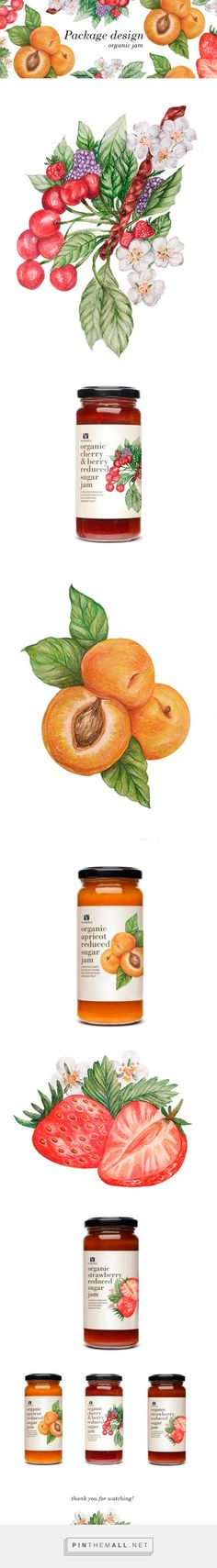 Jam package illustration on Behance. - a grouped images picture Jam Packaging, Bottle Packaging, Brand Packaging, Packaging Design, Branding Design, Jam Label, Honey Label, Welsh Lady, Branding Ideas