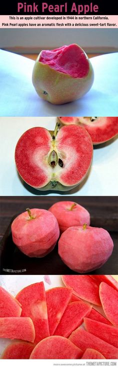 Pink Pearl Apple Had this amazing apples on a camping trip. So delicious! Fruit And Veg, Fruits And Veggies, Healthy Snacks, Healthy Eating, Healthy Recipes, Salad Recipes, Sweet Tarts, Apple Recipes, Junk Food