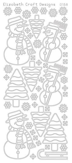 These versatile Peel-Off outline stickers can be used for many creative projects such as card making, scrapbooks, or decorative projects. Elizabeth Craft Designs, Wood Burning Patterns, Scroll Saw Patterns, Crochet Cross, Wood Ornaments, Coloring Book Pages, Christmas Projects, Design Crafts, Embroidery Patterns