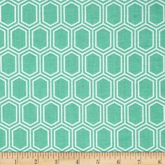 Designed by Camelot Fabrics, this fabric is perfect for quilting, apparel and home decor accents. Colors include mint and white.