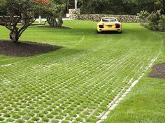 Basic Driveway Materials Regarding Grass Driveway Pavers Decorating Permeable Driveway, Concrete Driveways, Driveway Landscaping, Driveway Ideas, Gravel Driveway, Landscaping Ideas, Modern Driveway, Driveway Design, Grass Pavers