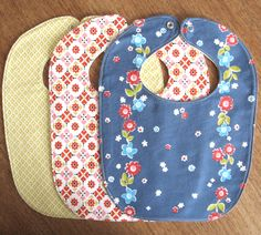 Baby Bibs Set of 3 / Toddler Bibs / Infant bibs / Child bibs / Shower gift / Eco-friendly baby gift. $9.90, via Etsy.