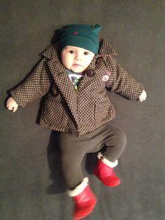 Allegra wears Hat Molo; Coat Ikks; Leggings Babe Boots Bluemarine