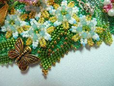 Thumbelina's Garden Necklace by thistledew4u on Etsy