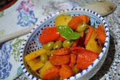 Babbi e le Palle di Pelo: La mia peperonata Fruit Salad, Vegetables, Food, Fruit Salads, Meal, Veggies, Essen, Vegetable Recipes