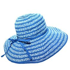 Home Prefer Women's UPF50+ Wide Brim Roll Up Floppy Sun Hat Girls Beach Hat with Ribbon Royal Blue Home Prefer http://www.amazon.com/dp/B01CNP21UQ/ref=cm_sw_r_pi_dp_HQy3wb06DSQBE