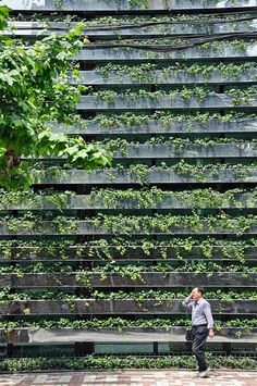 Green Facade in Shanghai by Kengo Kuma