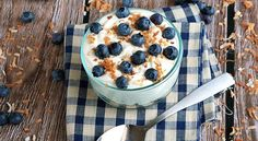 Blueberry and Toasted Coconut No-Bake Cheesecake- Fresh blueberries and sweet, toasted coconut make this no-bake cheesecake a simply perfect dessert for summer!