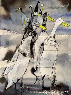 Art Folder, Rabbit Art, Art Pictures, Photos, Bird Illustration, Bird Art, Art Techniques, Unique Art, Watercolor Art