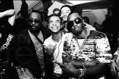 Diddy, Will I Am, Morillo - Backstage @ LIV, Miami...