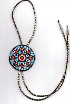 native american bead-work bolo tie. $62.00, via Etsy.