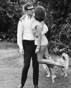 michael caine and natalie wood. so dashing.