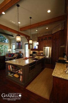 1 out of 10 floor plan, love the kitchen Mountain House Plans, Craftsman House Plans