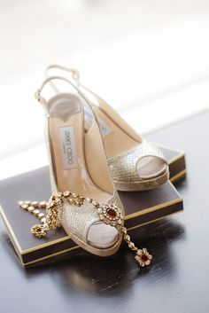 Beautiful Indian Brides  ♥ Bridal Wedding Shoes www.weddingsonline.in