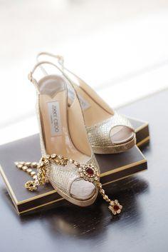 Beautiful Indian Brides  ♥ Bridal Wedding Shoes www.weddingsonline.in
