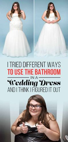 I Tried Different Methods Of Peeing In A Wedding Dress So You Don't Have To... Hysterical!