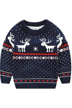 New BESTERY Childrens Cotton Christmas Ugly Sweater Pullover Outfit Jumper for Christmas Party Photograph Best Gift reindeer christmas jumper. ($16.99) alltoenjoyshopping Fashion is a popular style