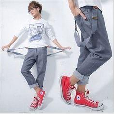 manhomme2012 de primavera de la moda masculina bib pantalones hombre pantalones skinny jeans tirantes