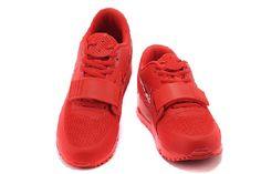 newest bc641 e0c06 Neue Nike Air Yeezy 2 SP Max 90 the Devil Series Für Männer Schuhe Rot -  Günstigste Preise