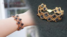 Beaded Bracelets Tutorial, Beaded Bracelet Patterns, Seed Bead Bracelets, Crystal Bracelets, Bracelet Designs, Handmade Bracelets, Seed Beads, Beading Patterns, Crystal Jewelry