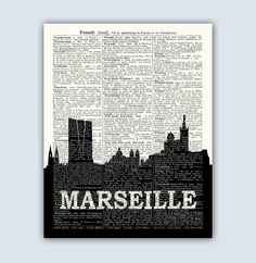 A personal favourite from my Etsy shop https://www.etsy.com/listing/513537537/marseille-art-marseille-cityscape