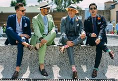 Tommy Ton Shoots Street Style at the Spring 2015 Menswear Collections: Dapper to the Power Fashion Week Hommes, Mens Fashion Week, Sharp Dressed Man, Well Dressed Men, Style Dandy, Style Gentleman, Look Formal, Tommy Ton, Men Street