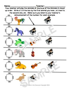 Ideas for Teaching Carnival of the Animals in the Elementary Music Classroom