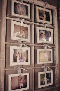 Porta foto en ventana antigua