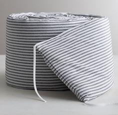 Garment-Dyed Ticking Stripe Crib Bumper