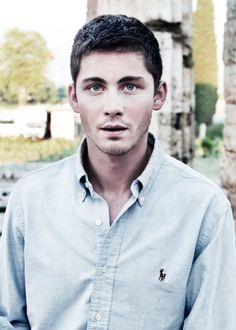 Actor Logan Lerman. Some films he has done are The Perks of Being a Wallflower, Noah, Stuck in Love, and Fury.