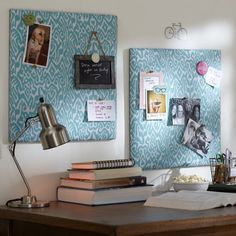 Pool Ikat Fabric Pinboard   PBteen    Hang up to the right of desk or above storage bins...or on slanted wall?