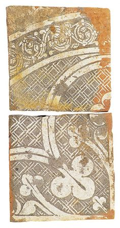 Chertsey Tiles discovered 1999, from about 1275 - 1299.