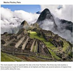 endroits-a-visiter-avant-de-mourir-machu-picchu 39 endroits à visiter avant de mourir