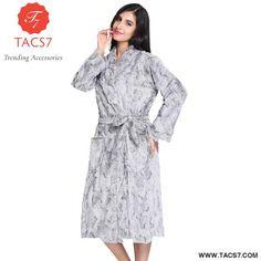 ad9b1c34d9 Thick Warm Bathrobe Nightgown Ladies Elegant Womens Nightwear