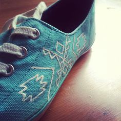 Pattern Painted Shoes