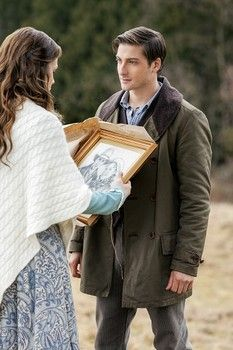 Jack (Daniel Lissing) and Elizabeth (Erin Krakow) in When Calls the Heart Prelude to a Kiss on Hallmark Channel.
