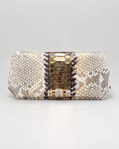 Judith Leiber  Eidi Python Clutch Bag_  $2995.00