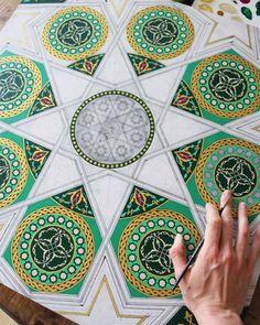 Russian artist guided by patterns, symbology, geometry and love Mandala Drawing, Mandala Art, Geometry Pattern, Iranian Art, Mandala Design, Islamic Art, Doodle Art, Pattern Design, Design Art