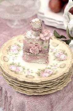 beautiful pink floral china