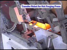 Transfering Hot Billets to Forging Press - Kawasaki Robotics - YouTube
