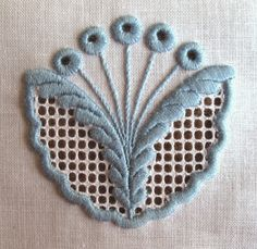 Lovely mix of styles here - schwalm and a lot of satin stitch Hand Embroidery Videos, Embroidery Stitches Tutorial, Sewing Machine Embroidery, Embroidery Works, Hardanger Embroidery, Hand Embroidery Stitches, Embroidery Designs, Drawn Thread, Satin Stitch