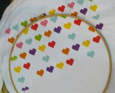 cross stitch hearts What to do with my leftovers