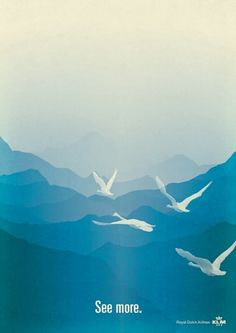 Beautiful poster for KLM.