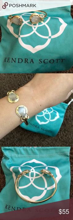 Kendra Scott Andy bracelet Stunning KS bracelet in Slate & gold setting.  Like New!! Wore this bracelet once with the Dani earrings but wear the earrings more than this unfortunately.  Will include dustbag.  Price is firm Kendra Scott Jewelry Bracelets