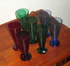 Rejmyre 'Tosca' glasses, from the 1950s, often attributed to the designer Monica Bratt.  Make great mineral water glasses