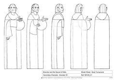 "Feature Design by Barry Reynolds: ""Secret of Kells"" - Older Brendan"