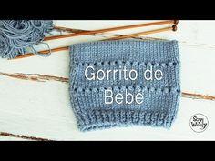 Cómo Tejer BOTICAS y GORRO (1) Baby Booties and Hat, Newborn 2 agujas (185) - YouTube