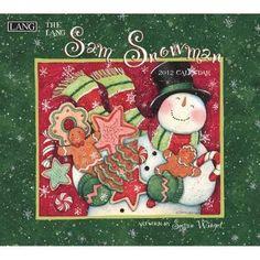 Sam Snowman by Susan Winget 2012 Wall Calendar COOKIES